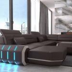 диван угловой с подсветкой