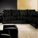 угловой диван черный
