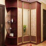 шкаф в прихожую коричневый