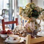 украшение стола к празднику идеи интерьер