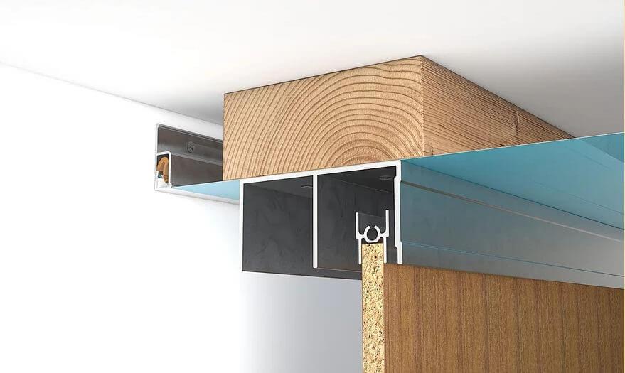установка шкафа после натяжного потолка