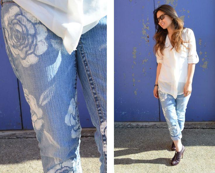 узоры на джинсах своими руками