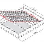 кровать с подъемным механизмом на чертеже