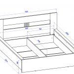 образец чертежа кровати