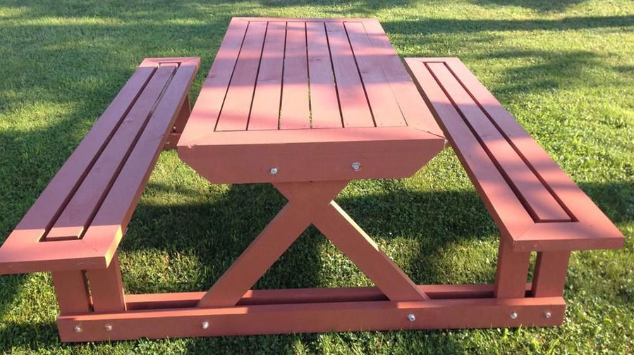 вес стола-скамейки