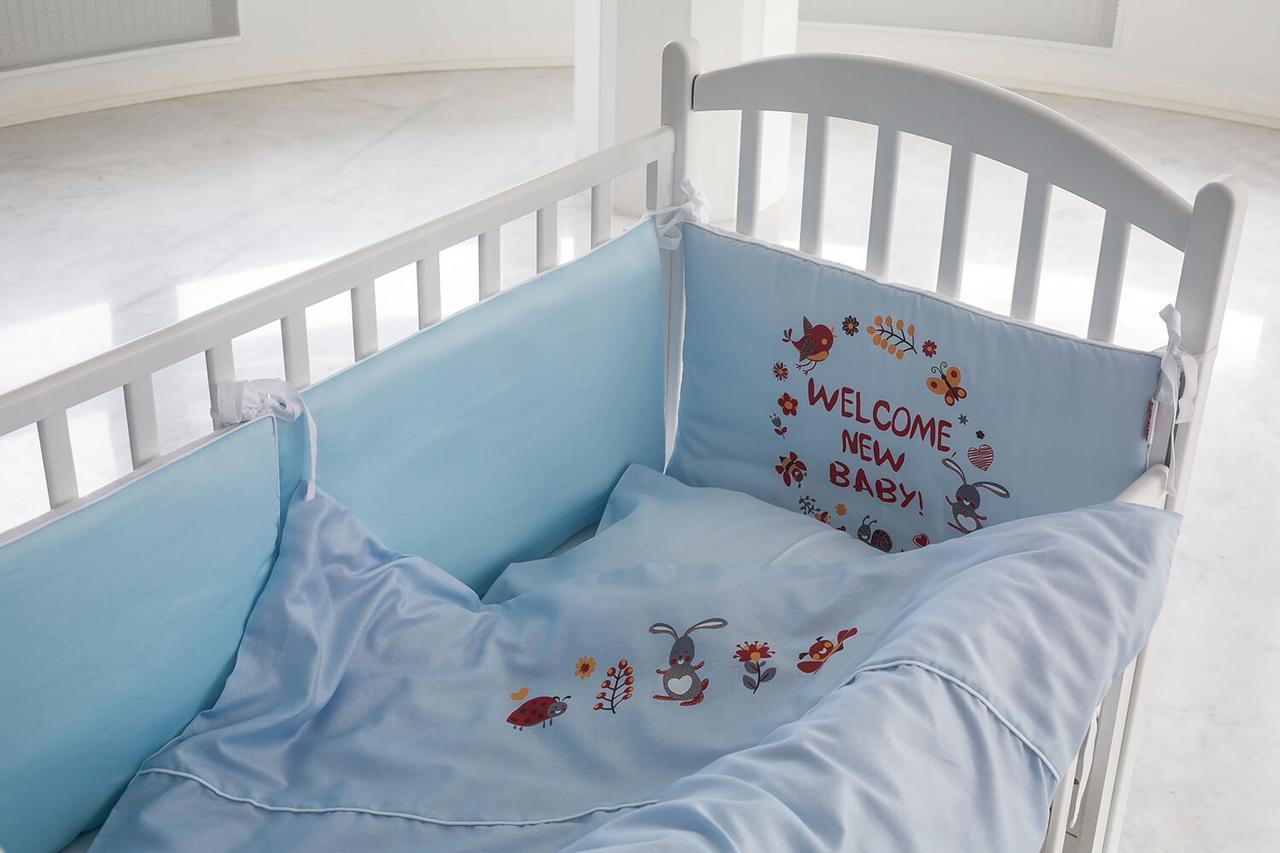 мягкий бортик в кровать младенца