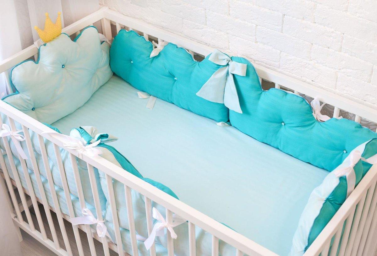 как сшить бортик для кроватки малыша