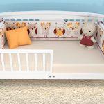 как оформить бортик для кровати малыша