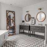 зеркало в ванную комнату декор фото