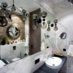 зеркало в ванную комнату интерьер