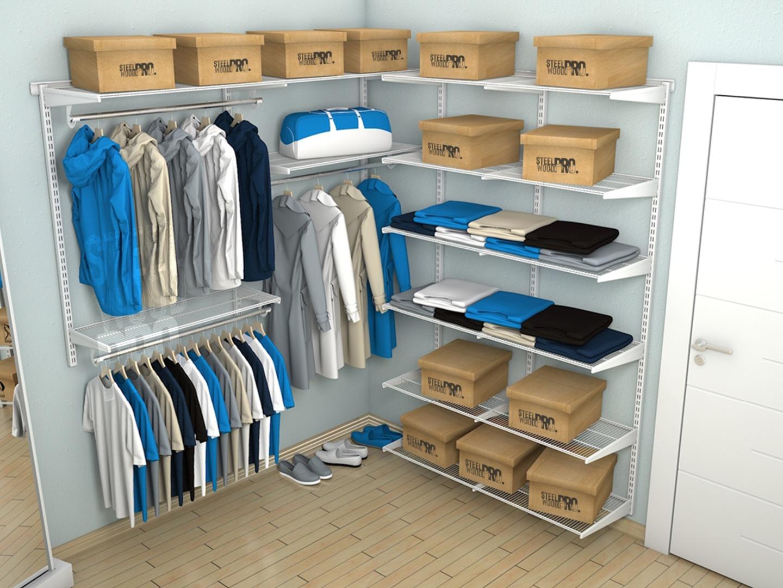 боковые полки в гардеробной