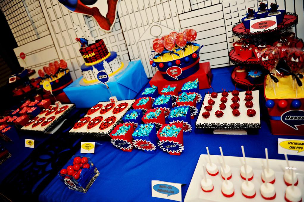 candy bar в стиле человек паук