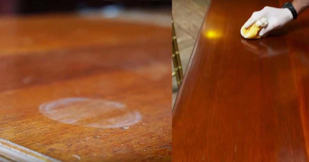 чистка мебели от пятен