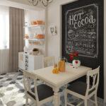 декор стены возле стола на кухне фото