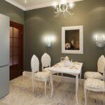 декор стены возле стола на кухне фото идеи