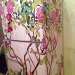 декупаж шкафа розы