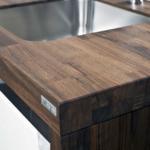 деревянная столешница для кухни фото