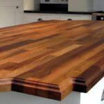 деревянная столешница для кухни декор идеи