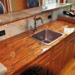 деревянная столешница для кухни идеи декора