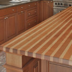 деревянная столешница для кухни интерьер