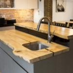 деревянная столешница для кухни фото идеи