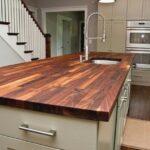 деревянная столешница для кухни фото оформления