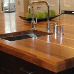деревянная столешница для кухни идеи оформление