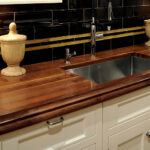 деревянная столешница для кухни дизайн фото