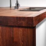 деревянная столешница для кухни варианты идеи