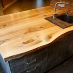 деревянная столешница для кухни виды идеи