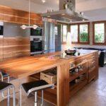 деревянная столешница для кухни фото дизайн