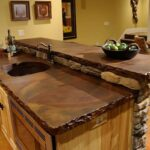 деревянная столешница для кухни виды дизайна