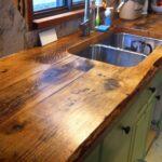 деревянная столешница для кухни дизайн идеи