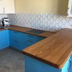 деревянная столешница для кухни декор фото