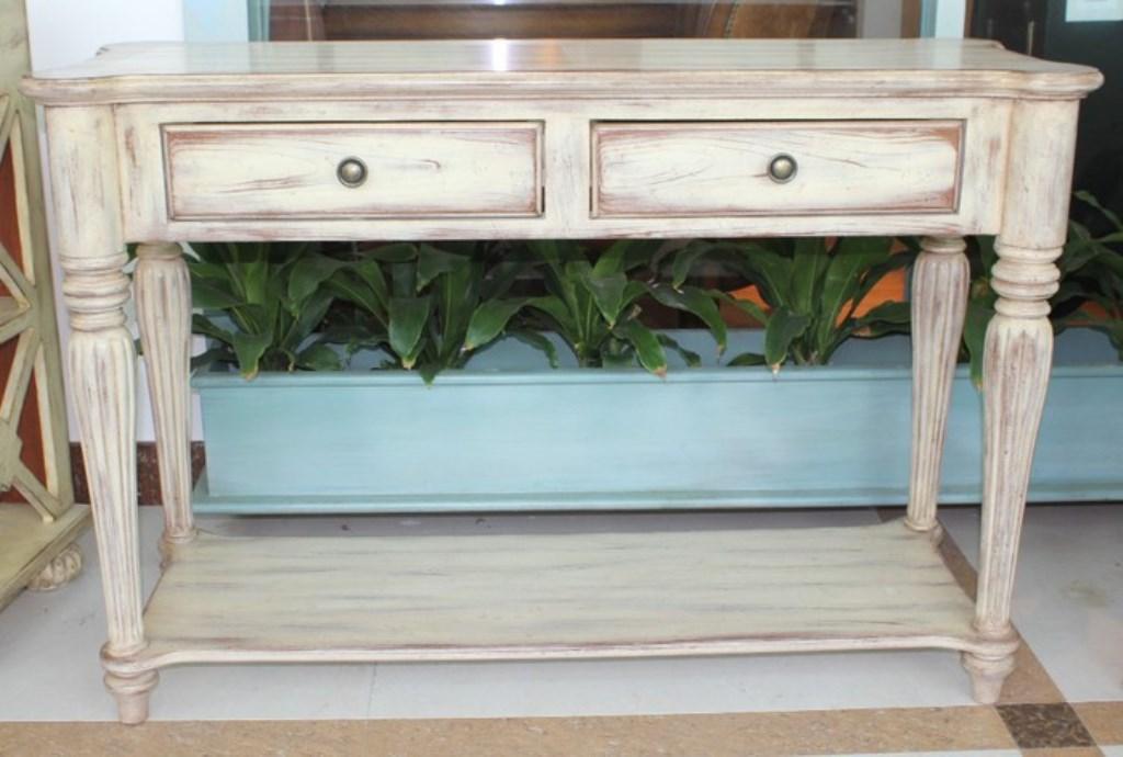 деревянный консольный столик
