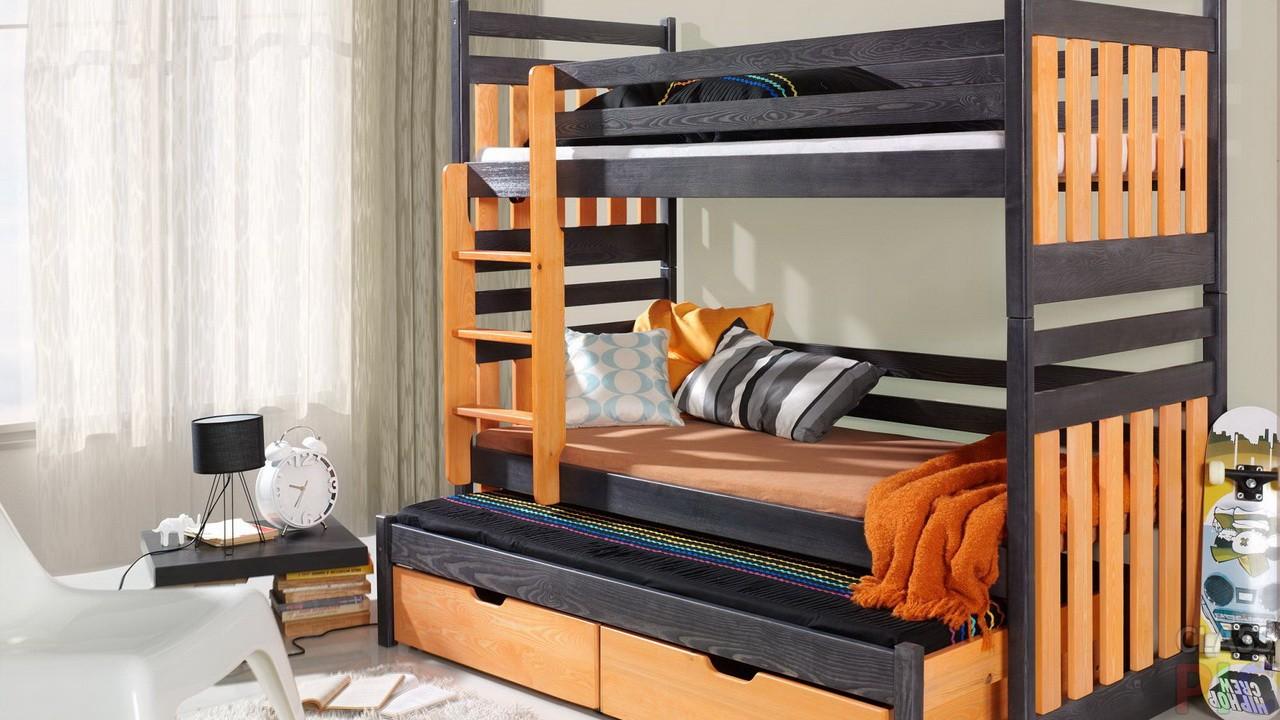 современная кровать для троих детей