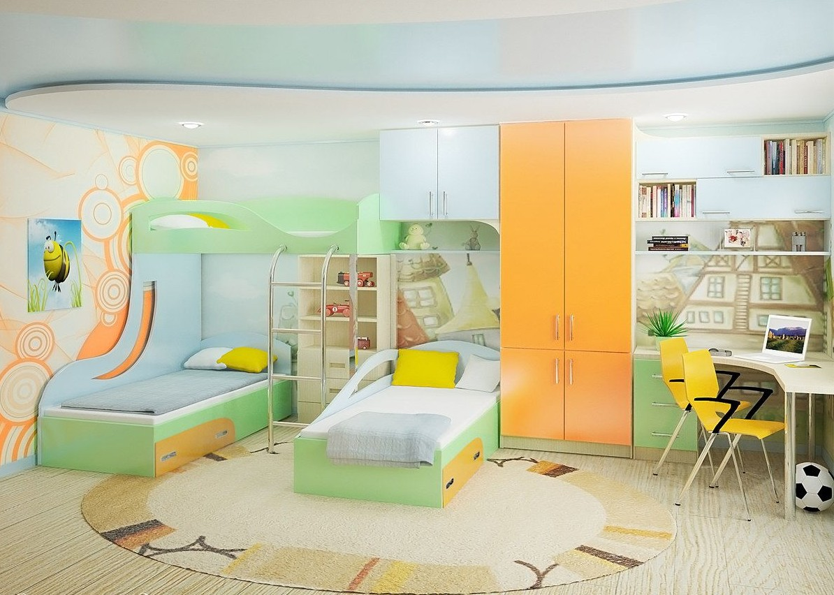 мебельный гарнитур для троих детей