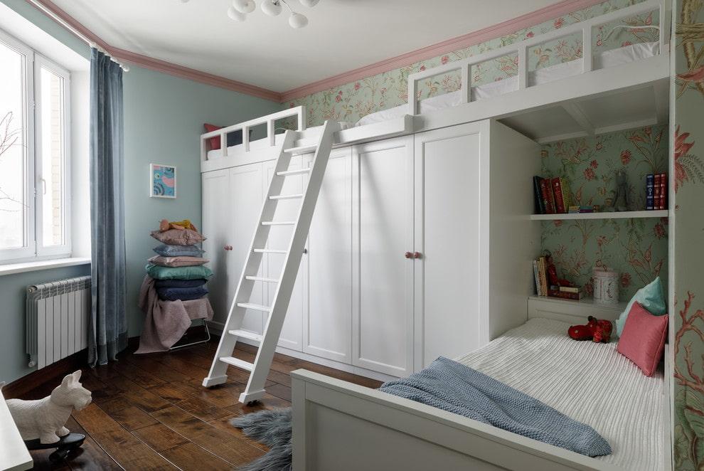 кровать чердак для троих детей