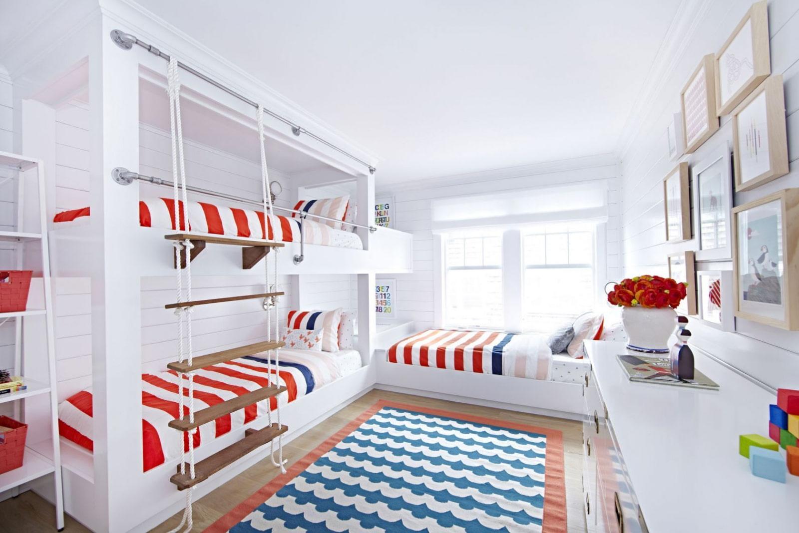 кровать для троих детей фото интерьера