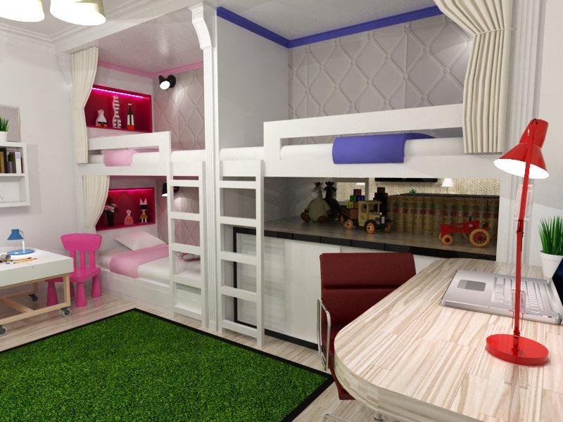 кровать для троих детей идеи оформления