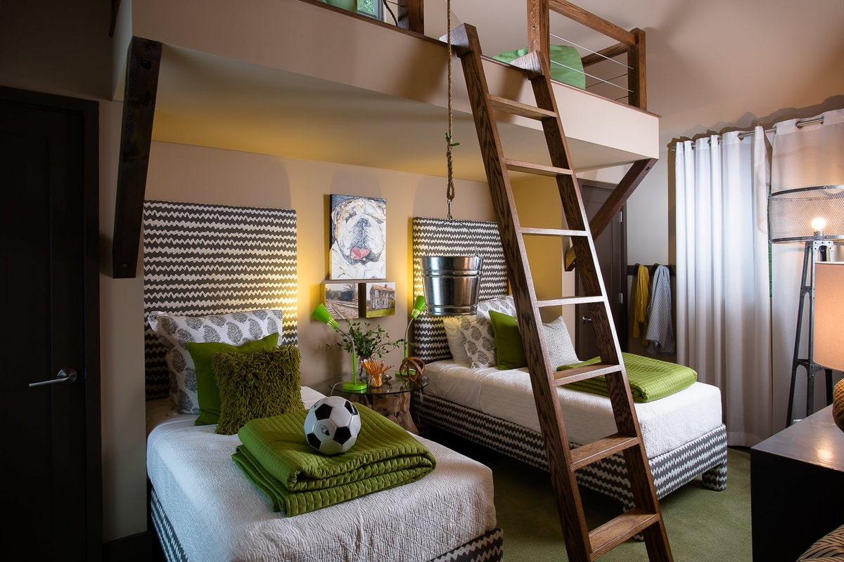кровать для троих детей идеи интерьера