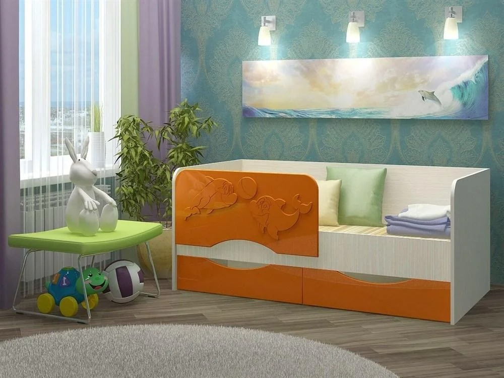 детская кровать дельфин оформление идеи