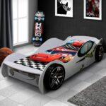 детская кровать-машина с шашечками