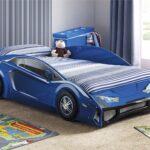 детская кровать-машина синяя