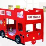 детская кровать-машинакрасный автобус