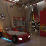 детская кровать-машина с фараси