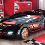детская кровать-машина с огнем