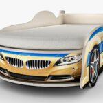 детская кровать-машина бежевая
