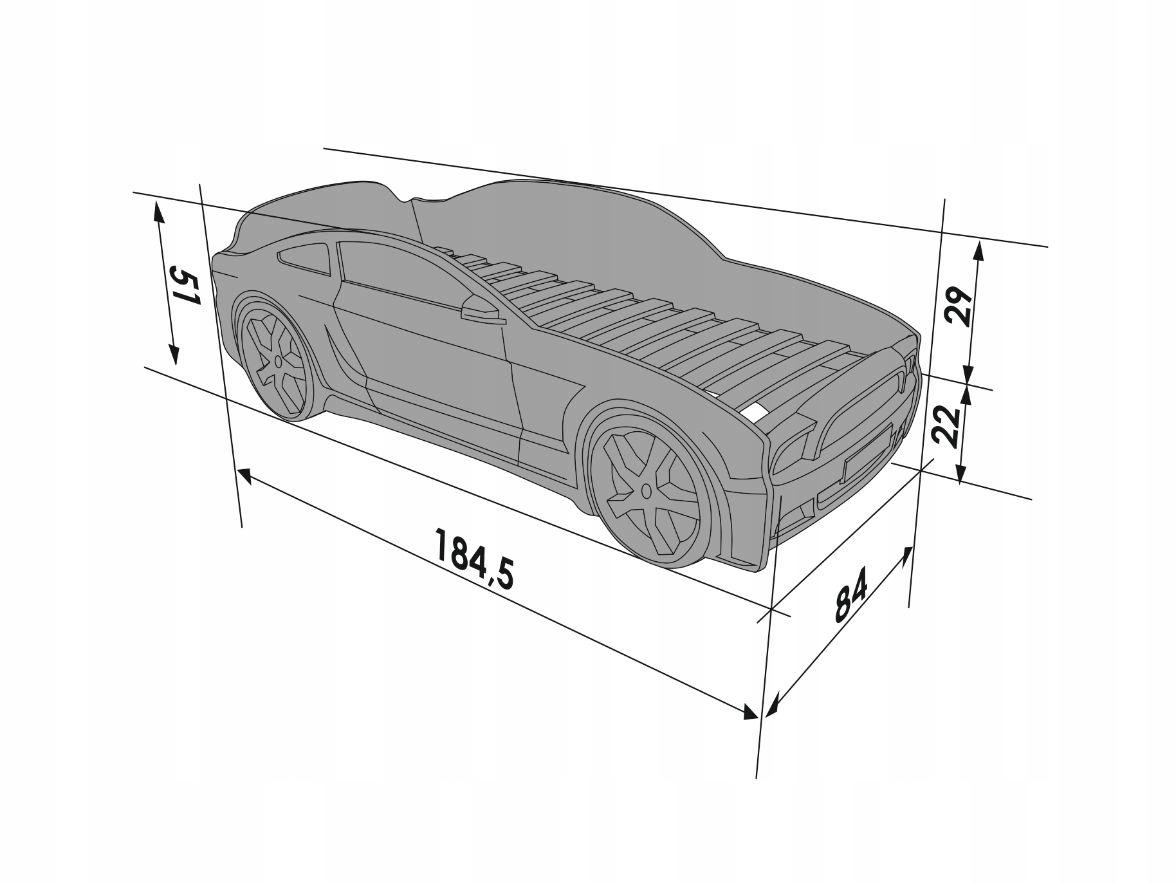 чертеж детской кровати-машины