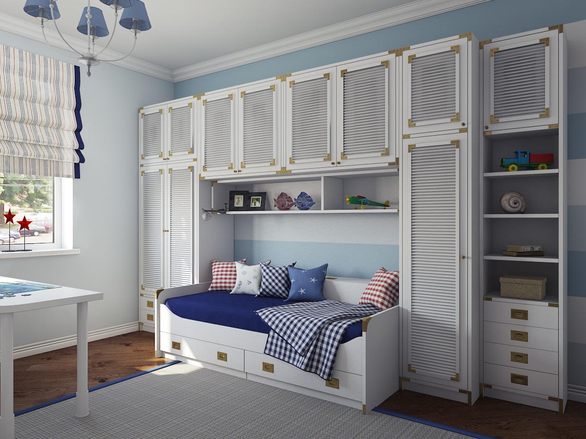комната мальчика в морском cтиле